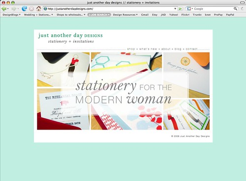 NEW! Just Another Day Designs Main Page