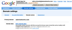 Google Apps - Alias a domain