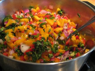 Cooking Peach Salsa