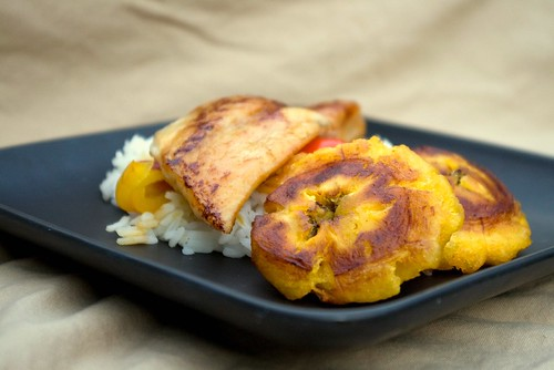 Ginger Lime Fillets with peppers and plantains