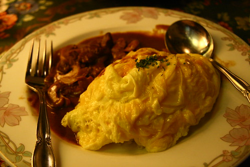 Beef Stroganoff with Omu Rice (by P3rSeUs)