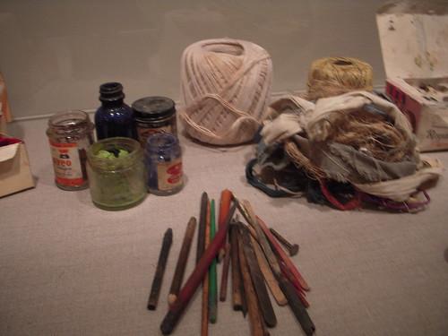 James Castle's materials