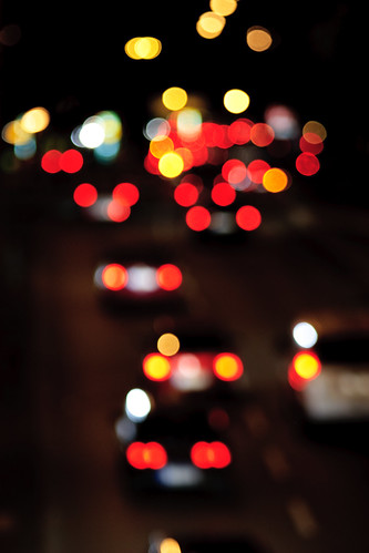 Out of focus traffic – Berlin, Alexanderplatz