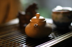 evening tea (Stacey~) Tags: tea chinese teapot yixing teatray gongfu explored