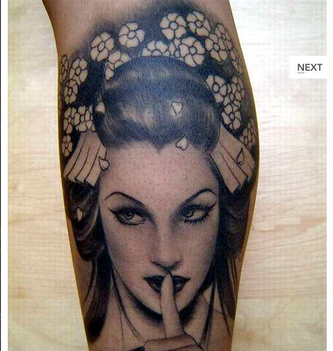 Nice Japanese Tattoo Designs Especially Japanese Geisha Tattoos With Image Japanese Geisha Calf Tattoo Gallery Picture 4
