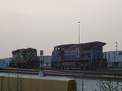 Former Burlington Northern and Conrail locomotives. The BNSF Railway Clyde Yard. Cicero Illinois. August 2007.
