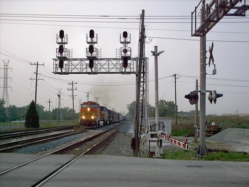 Southbound BNSF Railway transfer train. Bridgeview Illinois. August 2007. by Eddie from Chicago