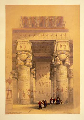 014- Vista del portico del templo de Dendera- David Roberts- 1846-1849