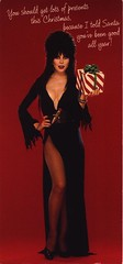 Elvira Christmas card from 1987