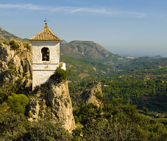The Bell Tower of Guadalest in the Costa Blanca (Anguskirk) Tags: mountains english stone architecture rural town village country belltower espana alicante vernacular moors british hilltop guadalest fortified costablanca 8thcentury