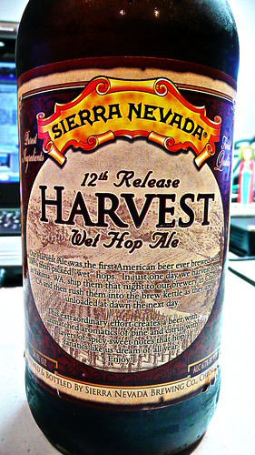 Sierra Nevada 12th Release Harvest Wet Hop Ale