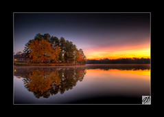 November Sunrise (Aaron K. Price) Tags: autumn lake reflection fall sunrise canon raleigh seagate hdr 1755 impressedbeauty alemdagqualityonlyclub vosplusbellesphotos