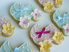 Fotini's Pram Cookies (Sweet Tiers) Tags: pink flowers blue lemon cookie polkadots cupcake bow christening babyshower decoratedbabyshowercupcakebowflowerspolkadotsbluepinklemonbuttercreamchristeningcookie decoratedadots