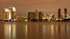 San Diego Misty Skyline at Night, California (Sir Francis Canker Photography ) Tags: ocean california ca trip travel bridge light usa reflection tourism luz thread night america airplane puente island star noche boat us perfect san long exposure barca poem barco unitedstates pacific sandiego united ile diego landmark visit lajolla icon tourist poetic trail sd lumiere reflejo bonita vista nocturna pont states bella logan coronado visiting isle nuit isla nocturne notte luce icono pacifico jolla chula exposicion escondido oceano californie isola riflesso lucena chulavista arenzano sirfranciscankerjones caponte pacocabezalopez