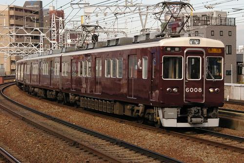 Hankyu6000series in Nakatsu,Osaka,Osaka,Japan 2008/11/22