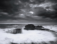 North Bungan b&w (Tim Donnelly (TimboDon)) Tags: bw white black rocks australia nsw bungan oceansea