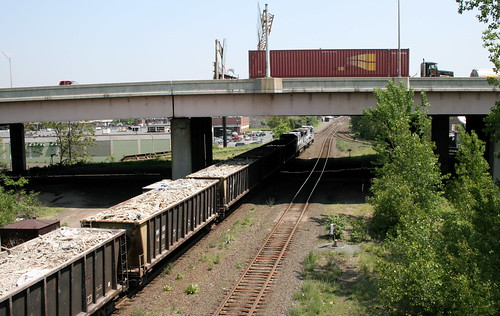 Rails and I-291 in Springfield. Photo by H Brandon