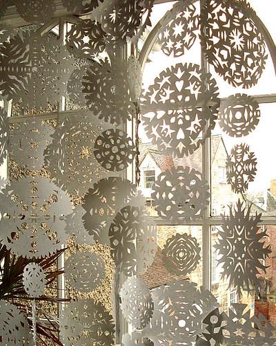 snowflake curtain