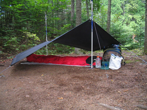 Tarp and bivy camping, Crosby Manitou