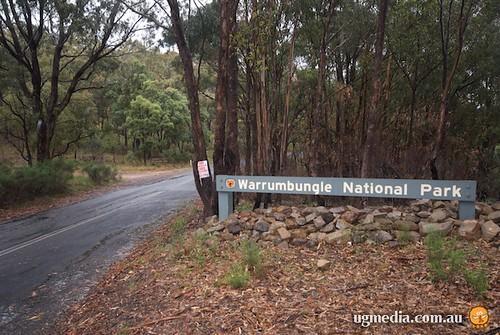 Warrumbungle National Park sign