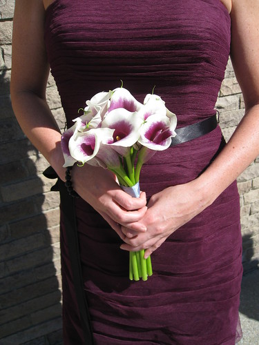 bridesmaid bouquets, Mini-calla lilies for bridesmaid bouquets wedding party