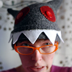 grey monster hat
