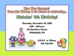 Wow Wow Wubbzy  Birthday (Kid's Birthday Parties) Tags: birthday party wow invitation custom personalized nickelodeon partysupplies wubbzy custominvitation personalizedinvitation custombirthdaysupplies wubbzybirthday wubbzyparty wowwowwubbzybirthday