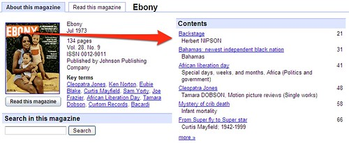 Ebony Table Of Contents
