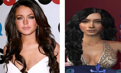 Lindsay Lohan Sim Comparrison by xxcuteecheeksxx.