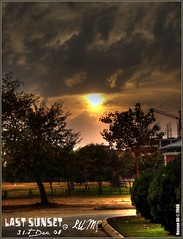 The setting sun... (HsnAli) Tags: pakistan sunset sun sports set clouds complex lahore lums lahoreuniversityofmanagementsciences abigfave