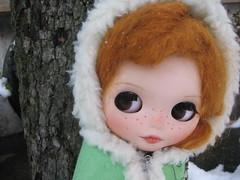 Molly en la nieve.