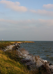 Windy afternoon at Marken (FlashDan) Tags: lighthouse cold windy marken