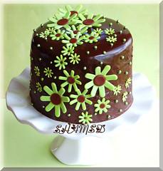 Mini chocolate Mud Cake (~Trs Chic Cupcakes by ShamsD~) Tags: flowers southafrica nikon ganache explore fondant electricgreen chocolatemudcake shamsd shamimadesai