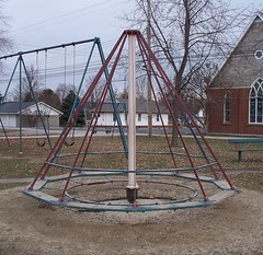 OH Mendon - Playground (scottamus) Tags: old ohio hat playground vintage furniture mendon equipment merrygoround mercercounty witchs