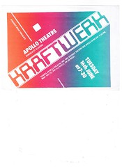 Kraftwerk at the Apollo Theatre 1981 (Superbawestside1980) Tags: flyer punk post