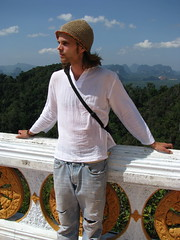 Tero on top of the Tiger Cave Temple mountain