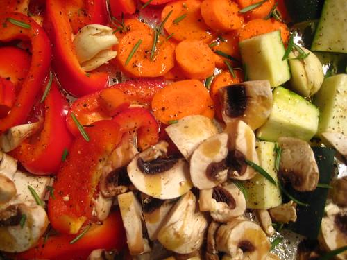 roasted veggie prep