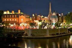 Epcot - France Pavilion (Matt Pasant) Tags: longexposure bridge paris france apple water night canon epcot 1982 mac florida eiffeltower arcade wed disney countries disneyworld wdw waltdisneyworld flordia waltdisney worldshowcase 5photosaday arace colorefex mywinners niksoftware internationalgateway canon40d aperture20