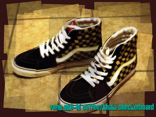 VANS SK8-Hi Coffee/Khaki Checker