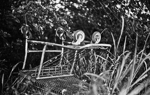 upside-down shopping cart