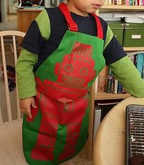 Kids' robot apron