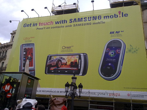 Samsung touch advertising by RafeB.