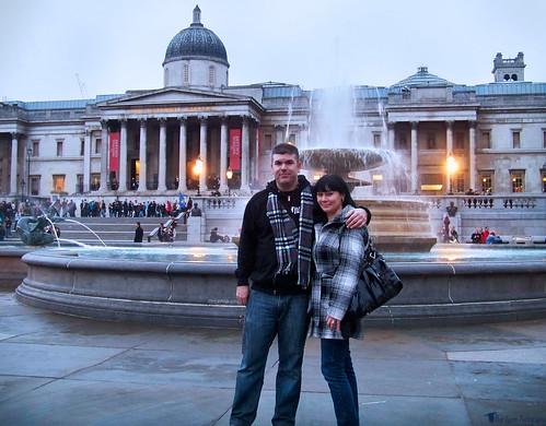 Greg and Edna in Trafalgar Square