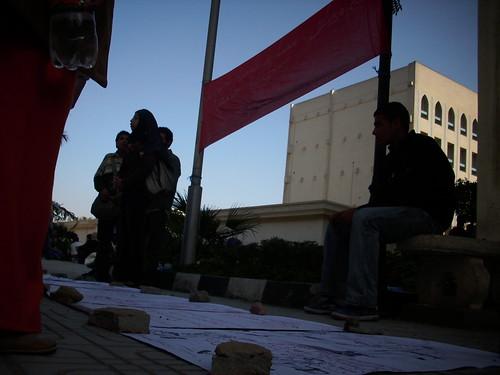 """My Right"" -student movement- Exhibition, Central library , Cairo University معرض حقي أمام المكتبة المركزية جامعة القاهرة"
