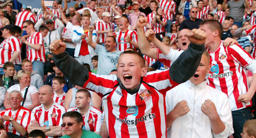Happy Sunderland fans