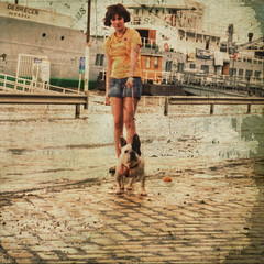 Rr u talkin' 2 me? {French accent} (PhatCamper) Tags: camera light portrait people dog pets texture water girl animal animals canon vintage river boats boat model flickr hungary flood text budapest streetphotography naturallight textures damage teenager frenchbulldog duna ungarn highwater danube textured canond30 naturaldisaster donau hungarian hochwasser tourboat magyarorszg floodwater dunav hongrie fakepolaroid dasboot fauxlaroid 500x500 dunaj portr canoneos30d pseudohdr arviz dunapart vintagefeel arckp thelittledoglaughed donauradwanderweg singlerawtonemapped phatcamper lesbrumes arhullam