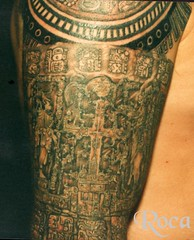 COMPOSICION  MAYA (roca tattoo studio) Tags: tattoo arte maya cultura tatuaje calendario azteca precolombino prehispanico