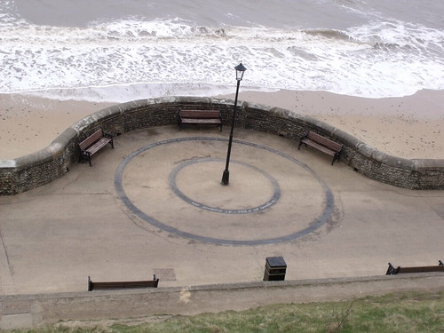 The sea and beach at Cromer - two Circles with quotes