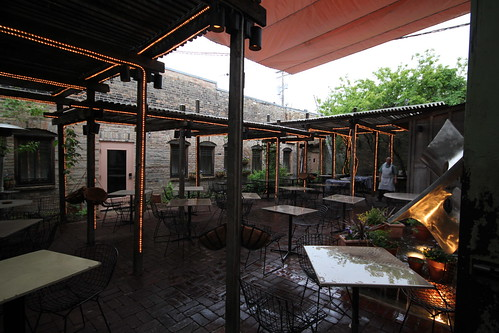 Wet patio at Black Forest Inn
