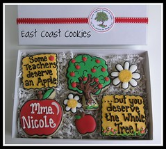 Some Teachers deserve an Apple .... (East Coast Cookies) Tags: decoratedcookies teachergift treecookies flowercookies teachercookies applescookies